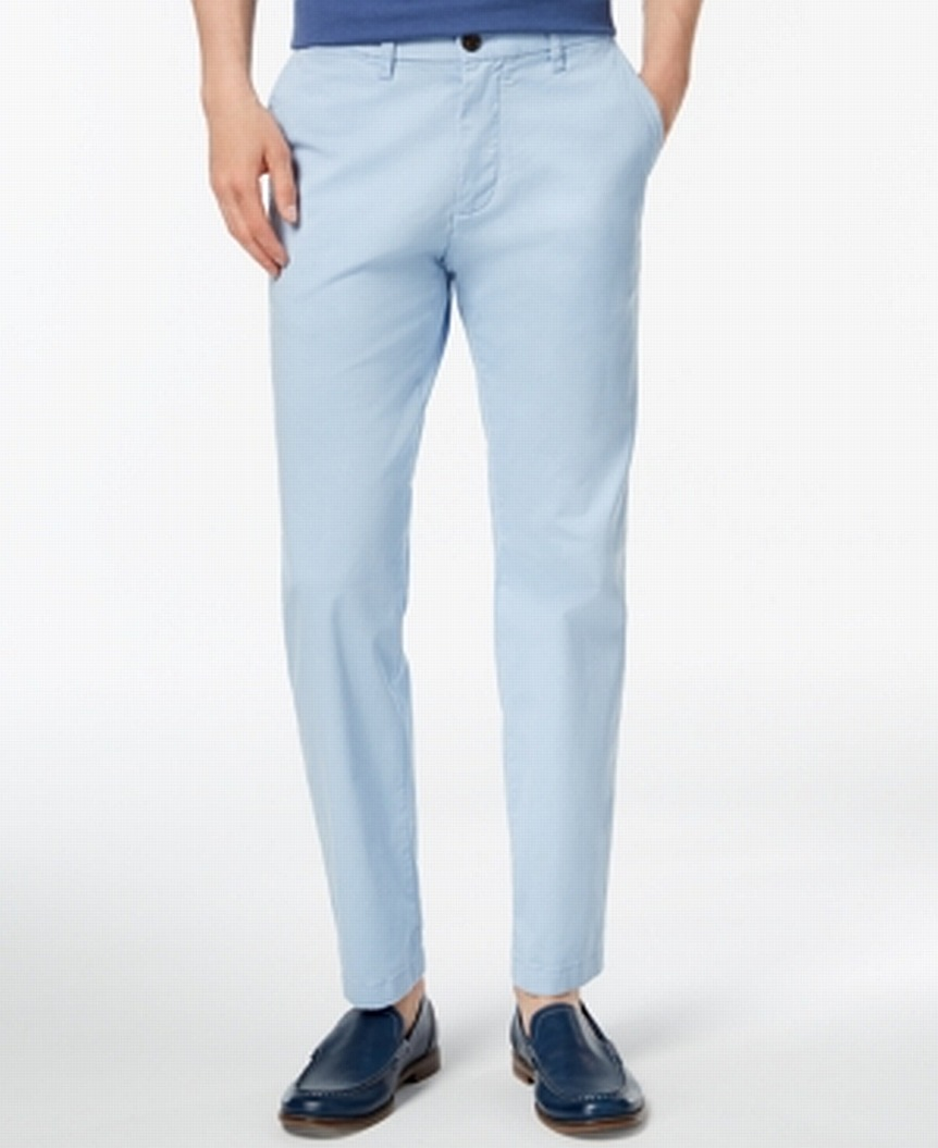 New-Tommy-Hilfiger-Mens-Blue-Size-36X30-Custom-Fit-Chinos-Stretch-Pants-59-238