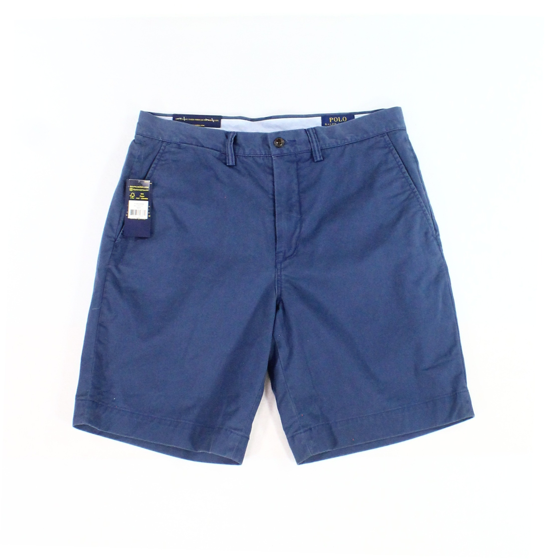 New-Polo-Ralph-Lauren-Mens-Blue-Size-30-Flat-Front-Khakis-Chinos-Shorts-75-040