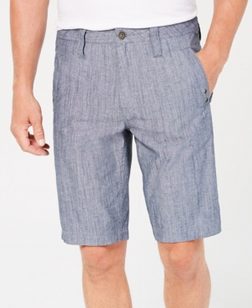 INC-NEW-Blue-Mens-Size-36-Grommet-Detail-Flat-Front-Casual-Shorts