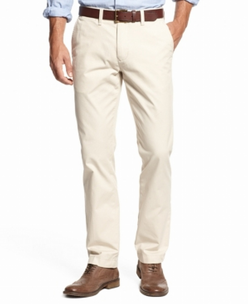 Tommy-Hilfiger-Mens-Beige-Size-38X36-Classic-Fit-Khakis-Chinos-Pants