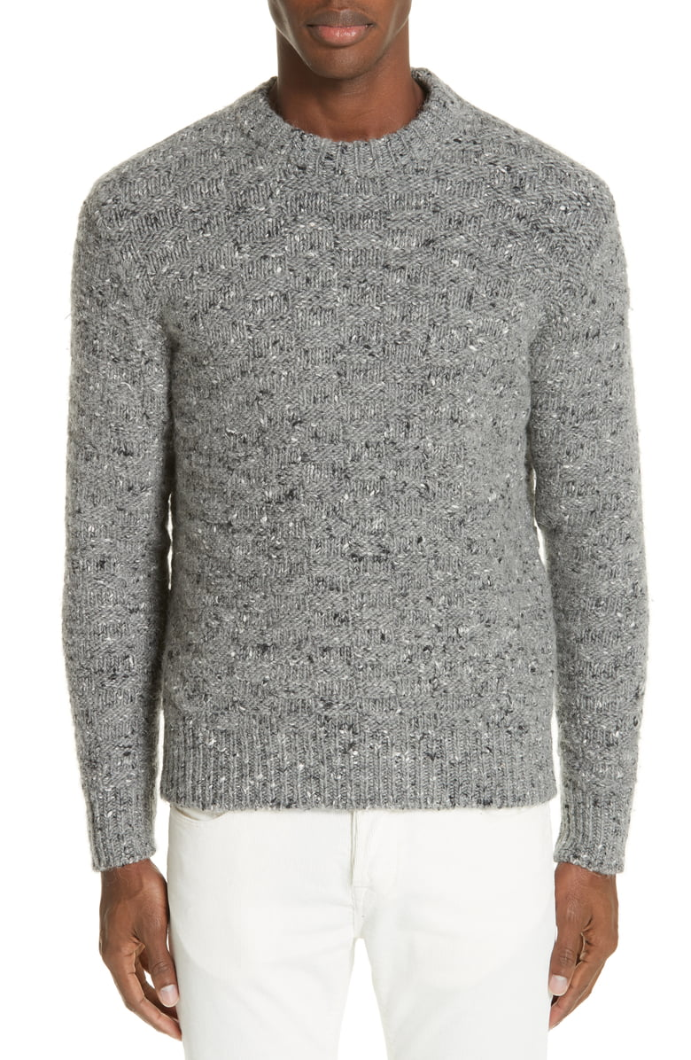 eleventy-Mens-Gray-Size-Large-L-Crewneck-Wool-Pullover-Knit-Sweater-495-675