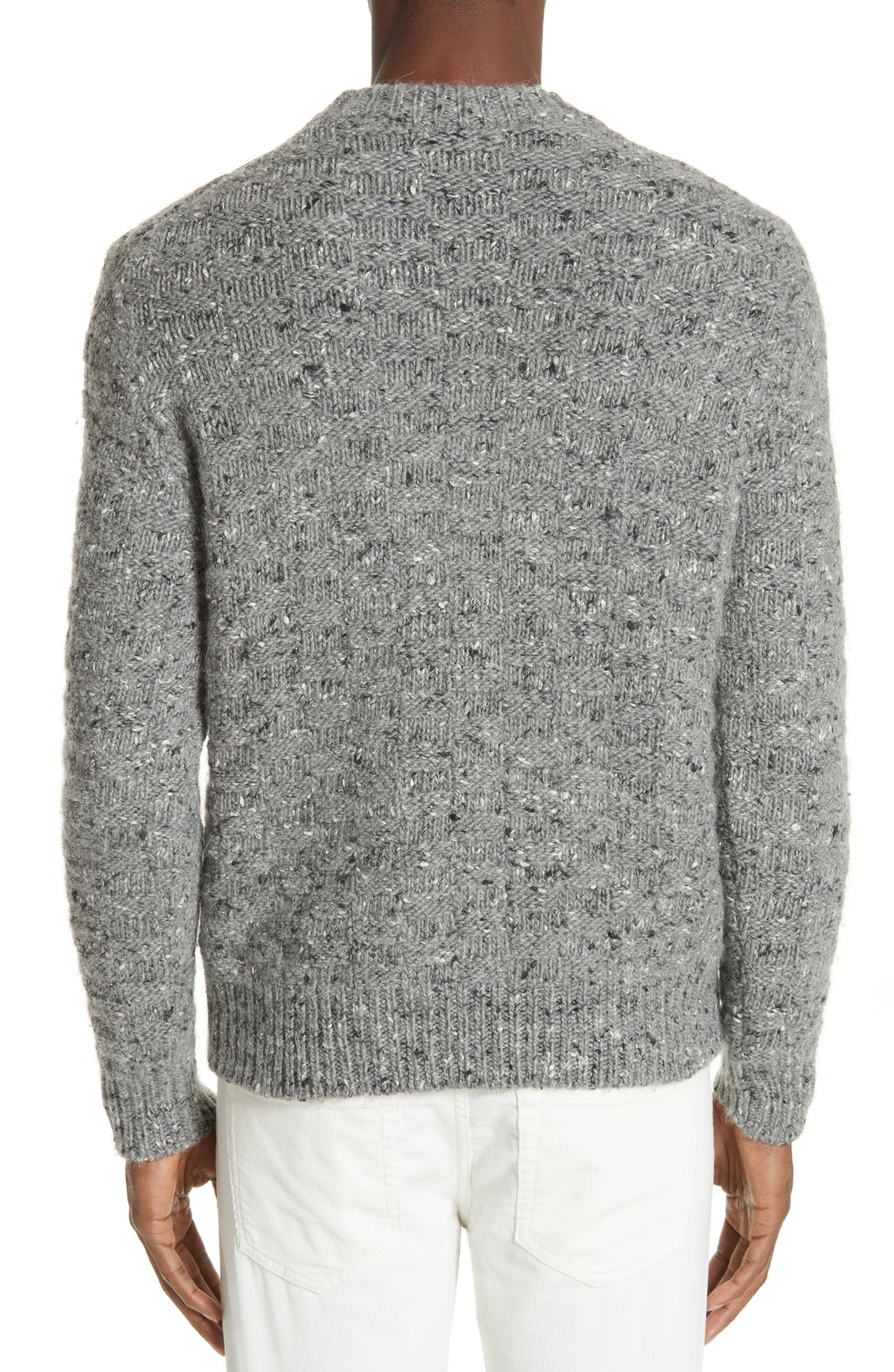 eleventy-Mens-Gray-Size-Large-L-Crewneck-Wool-Pullover-Knit-Sweater-495-675 miniature 2