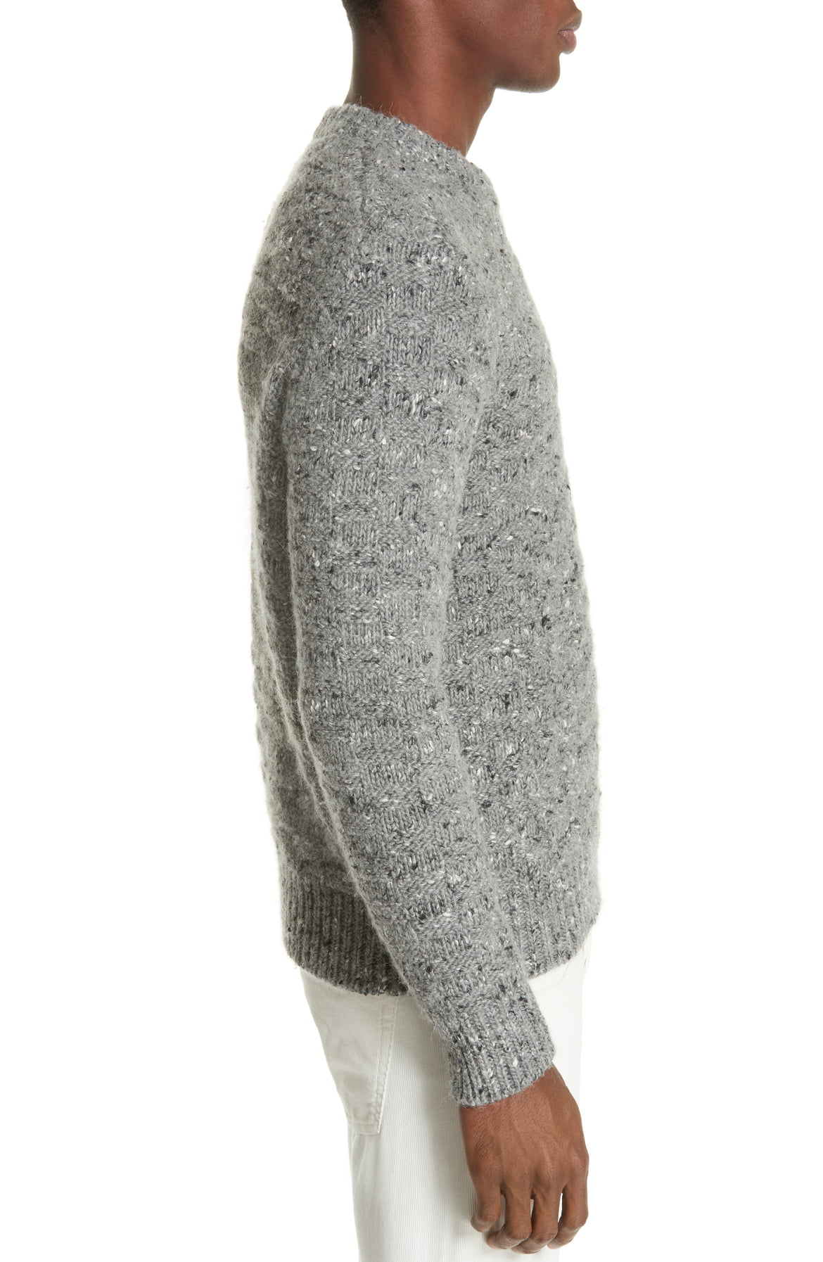 eleventy-Mens-Gray-Size-Large-L-Crewneck-Wool-Pullover-Knit-Sweater-495-675 miniature 3