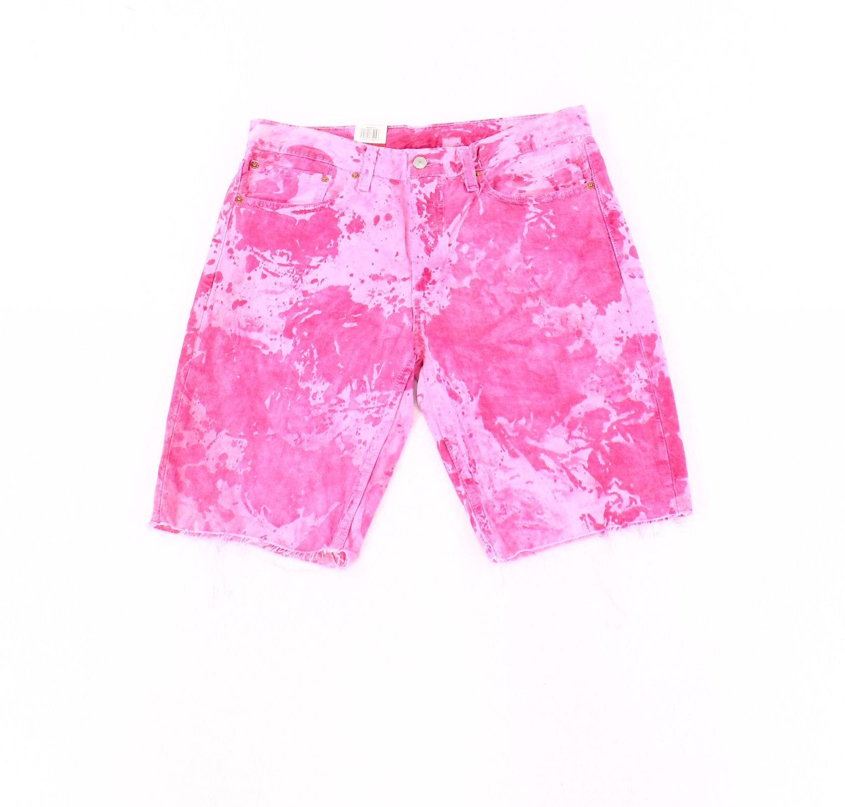 Levi-039-s-Mens-Pink-Shorts-Size-33-Frayed-Denim-Cotton-511-Slim-Cut-Off