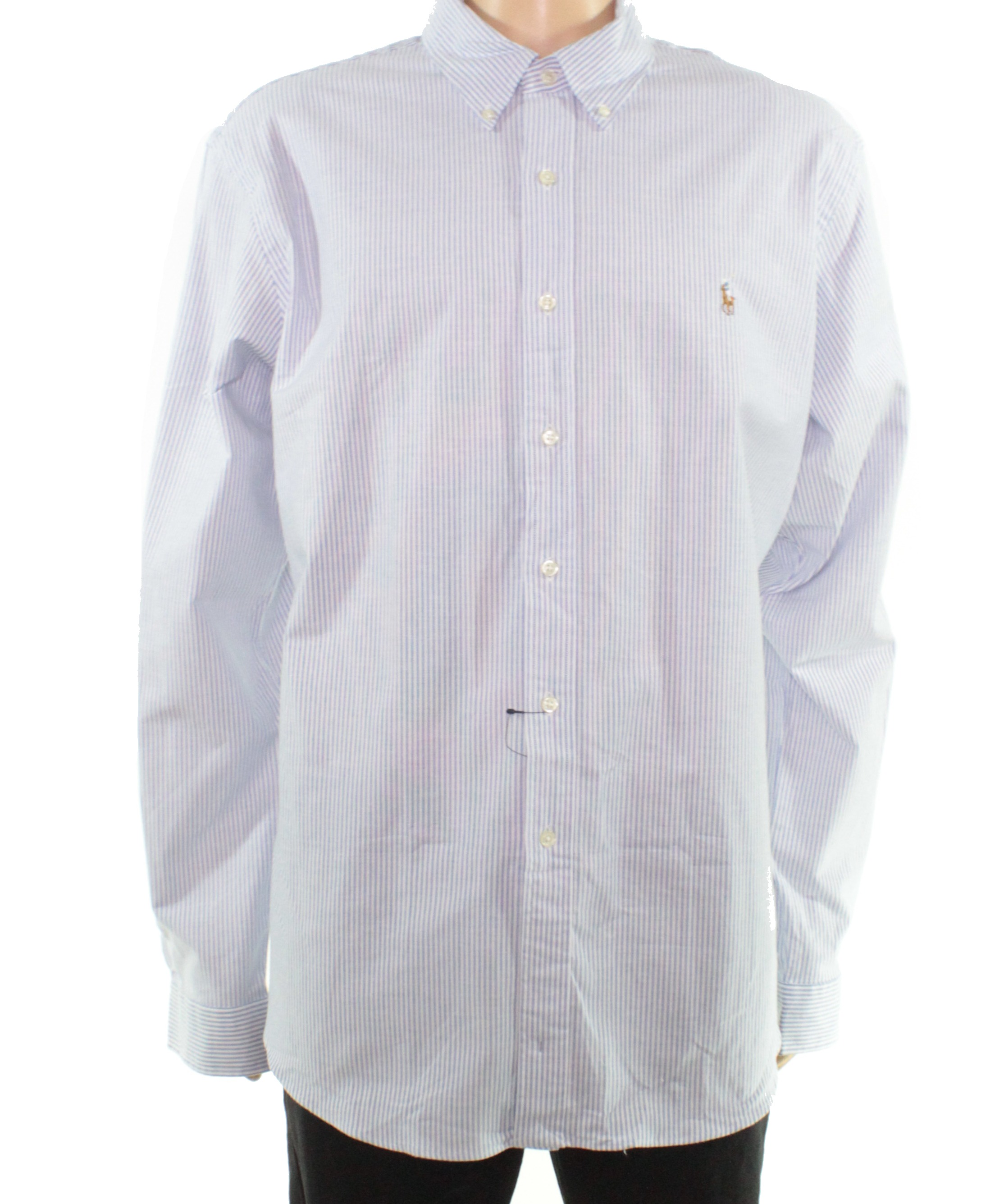 Tommy Hilfiger NEW Blue Mens Size 2XL Stripe Slim Button Down Shirt $69 #369