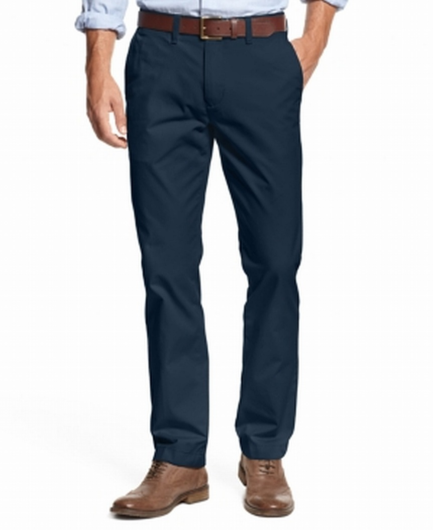 Tommy-Hilfiger-Mens-Pants-Navy-Blue-Size-42X34-Khakis-Chinos-Stretch-69-153