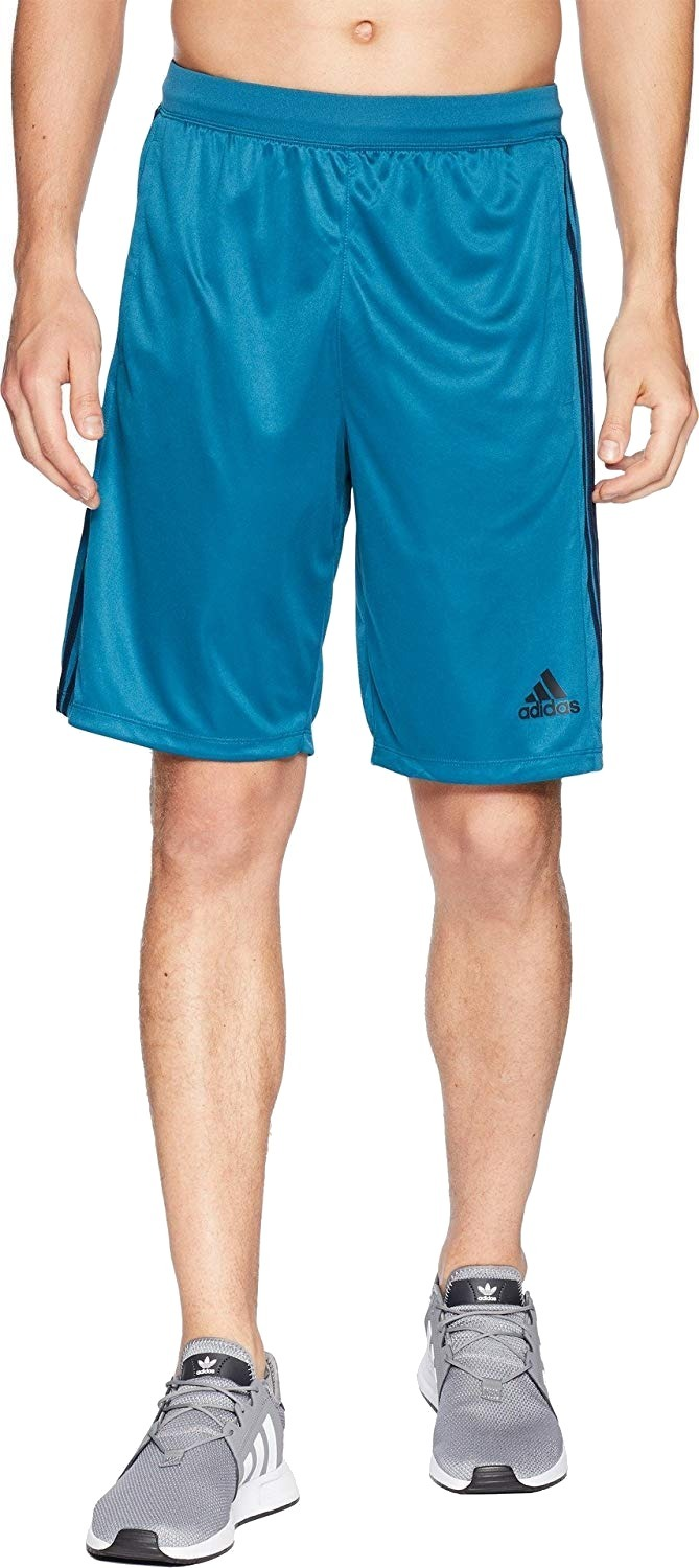 New-Adidas-Mens-Shorts-Blue-Size-Small-S-Drawstring-Stay-Dry-Athletic-30-063