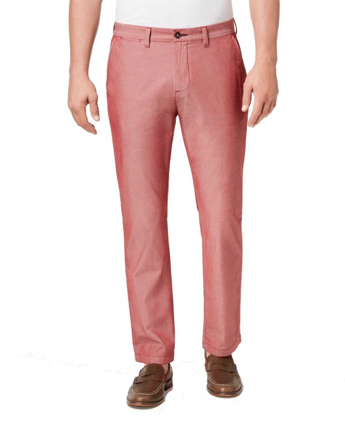 Tommy-Hilfiger-Mens-Pants-Red-Size-33X32-Custom-Fit-Khakis-Chinos