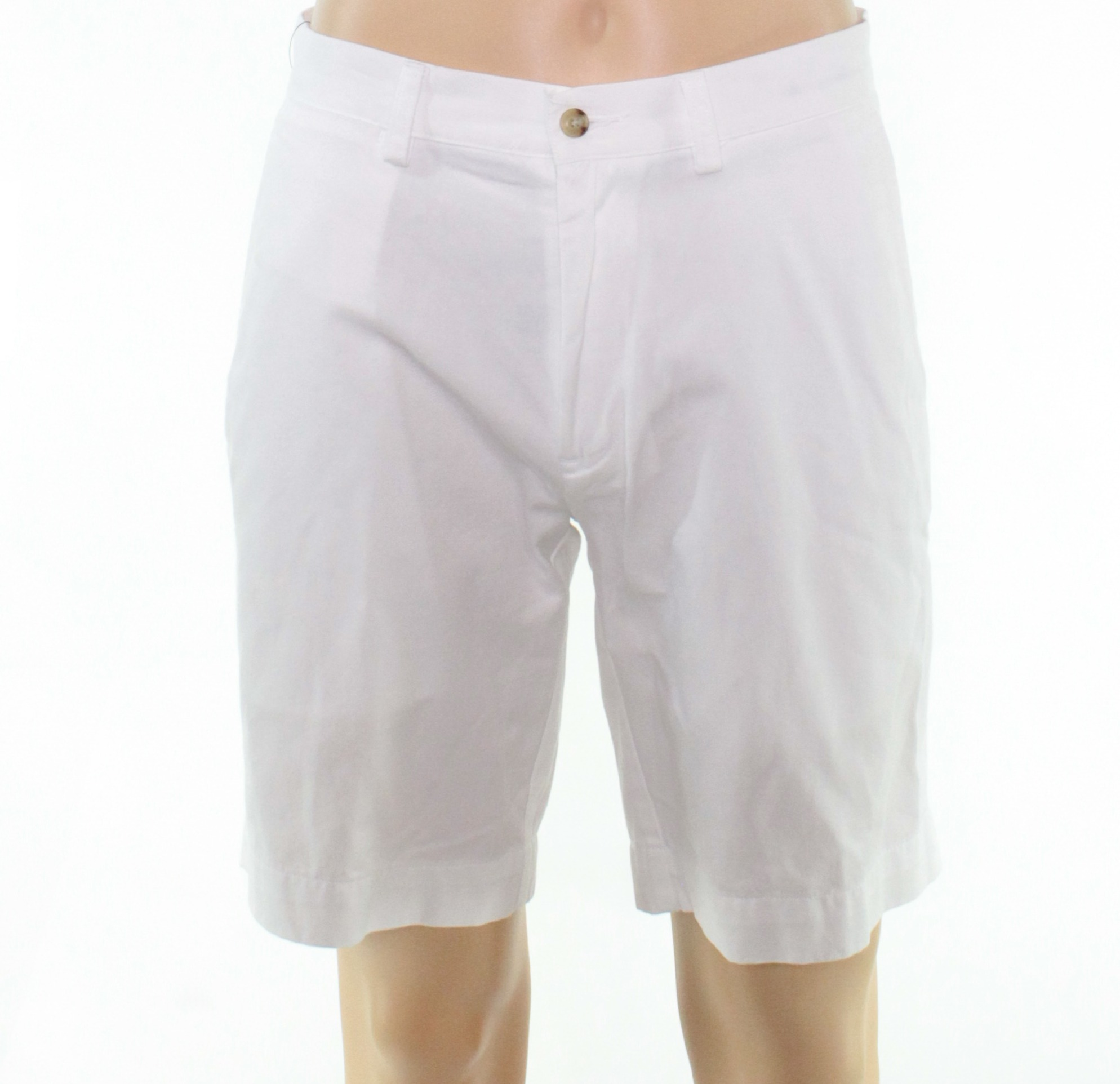 New-Polo-Ralph-Lauren-Mens-Shorts-White-Size-32-Khakis-Chinos-Flat-Front-69-262