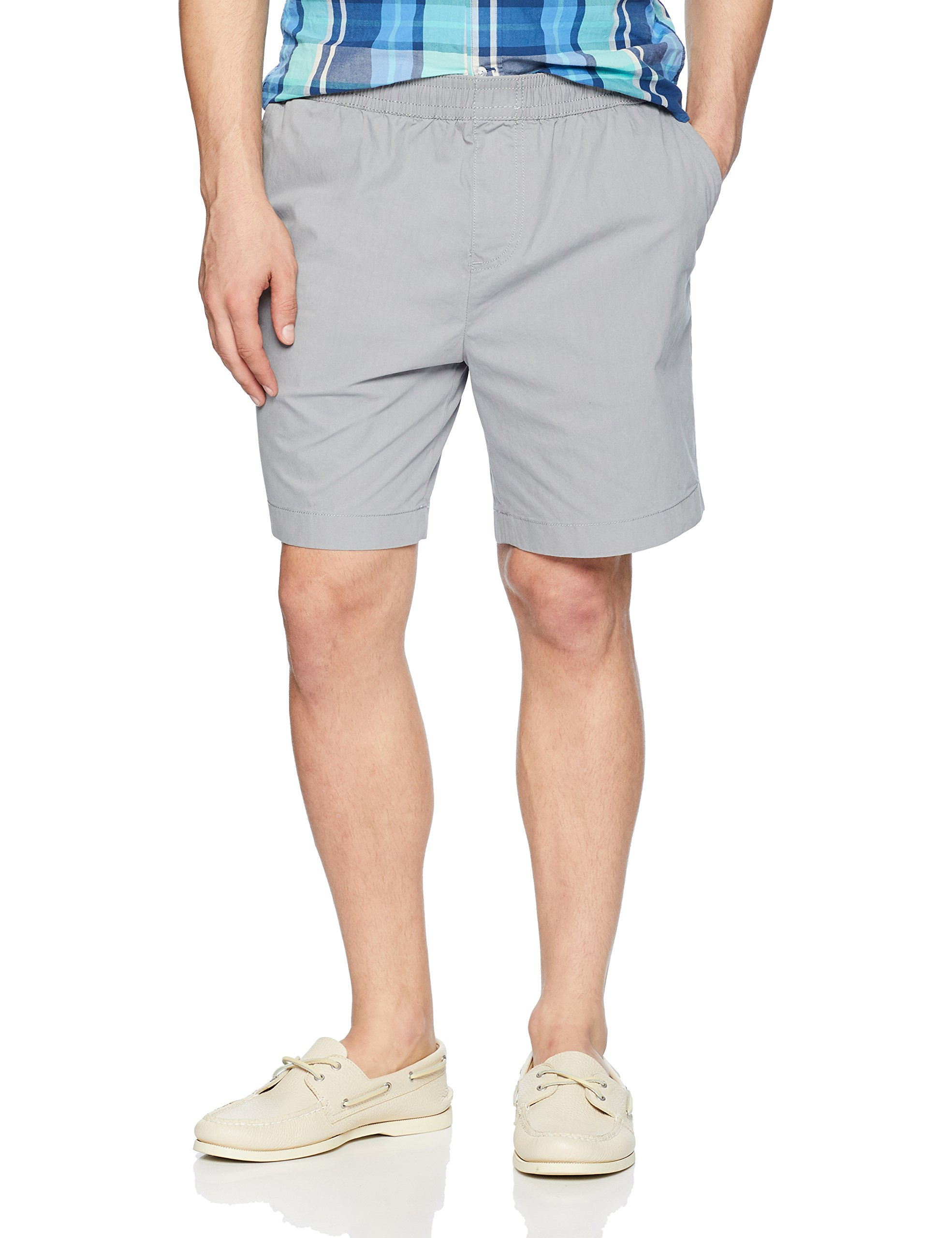 New-Nautica-Mens-Shorts-Gray-Size-Large-L-Casual-Boardwalk-Drawstring-55-266
