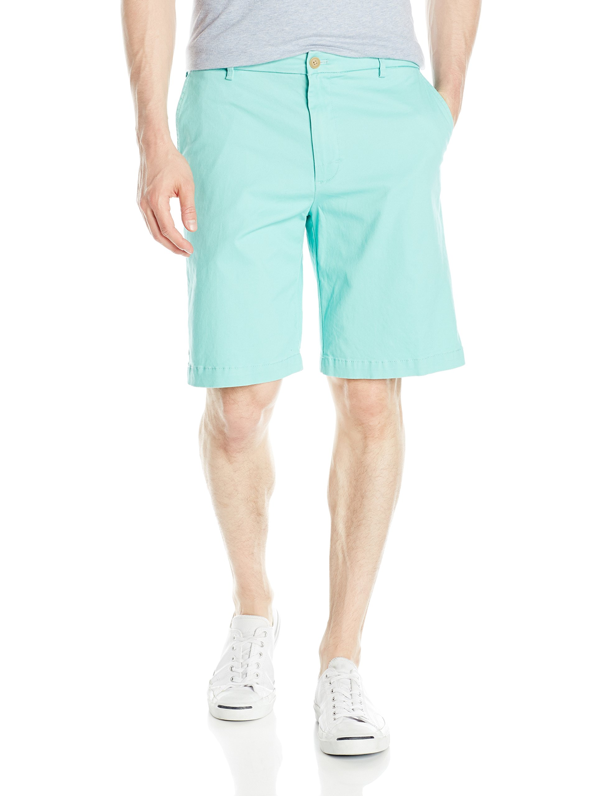 New-IZOD-Mens-Shorts-Green-Size-32-Saltwater-Stretch-Chino-Cascade-Flat-55-311