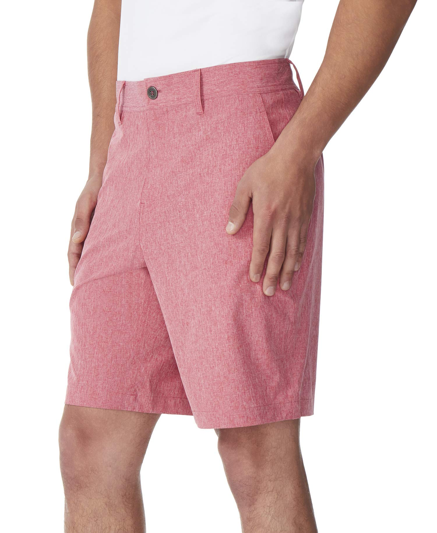 New-32-Degrees-Mens-Shorts-Solid-Bright-Red-Size-38-Stretch-Performance-39-313 thumbnail 2