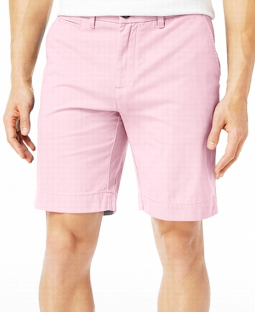 New-Tommy-Hilfiger-Pink-Shorts-Mens-Size-34-Flat-Front-Khakis-Chinos-49-328