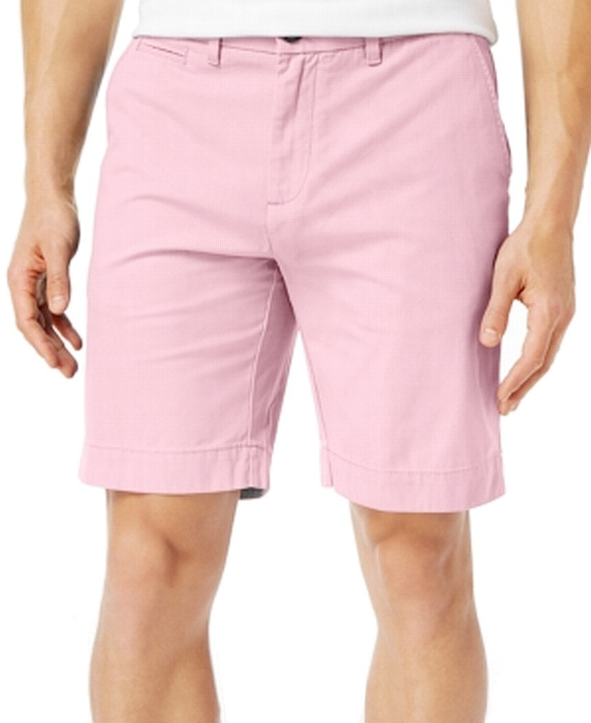 New-Tommy-Hilfiger-Pink-Shorts-Mens-Size-38-Flat-Front-Khakis-Chinos-49-329