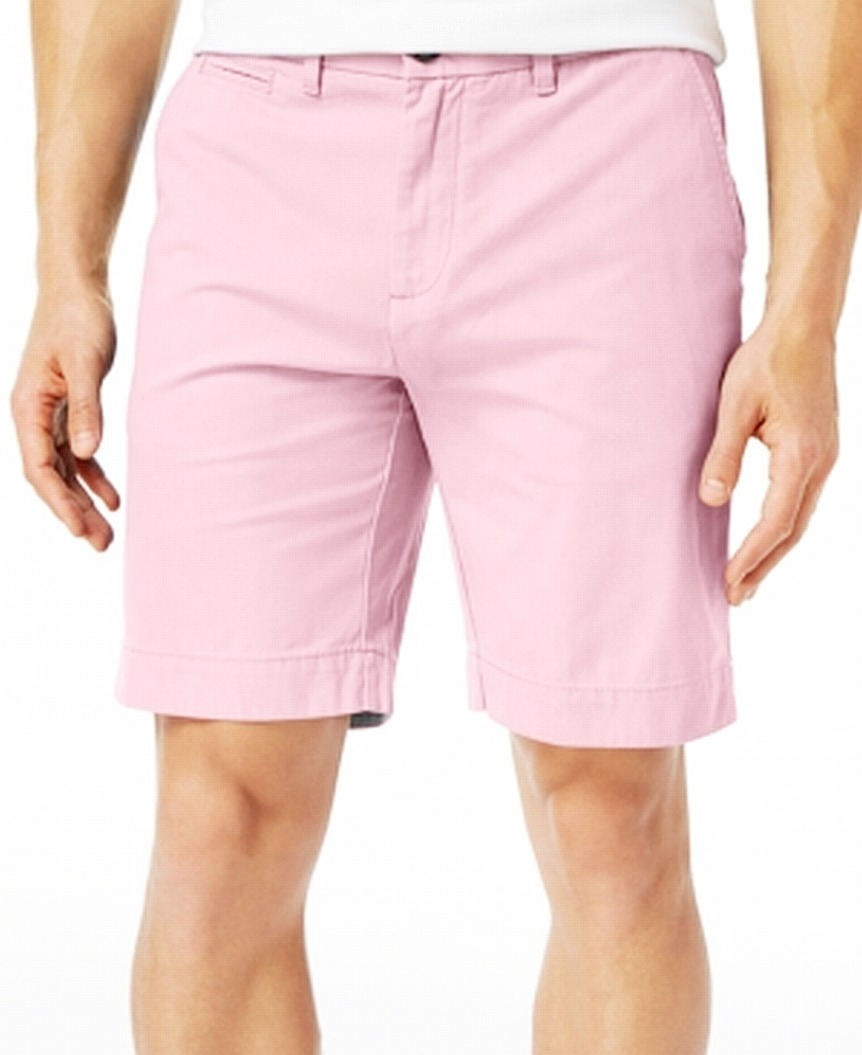 New-Tommy-Hilfiger-Pink-Shorts-Mens-Size-40-Flat-Front-Khakis-Chinos-49-330