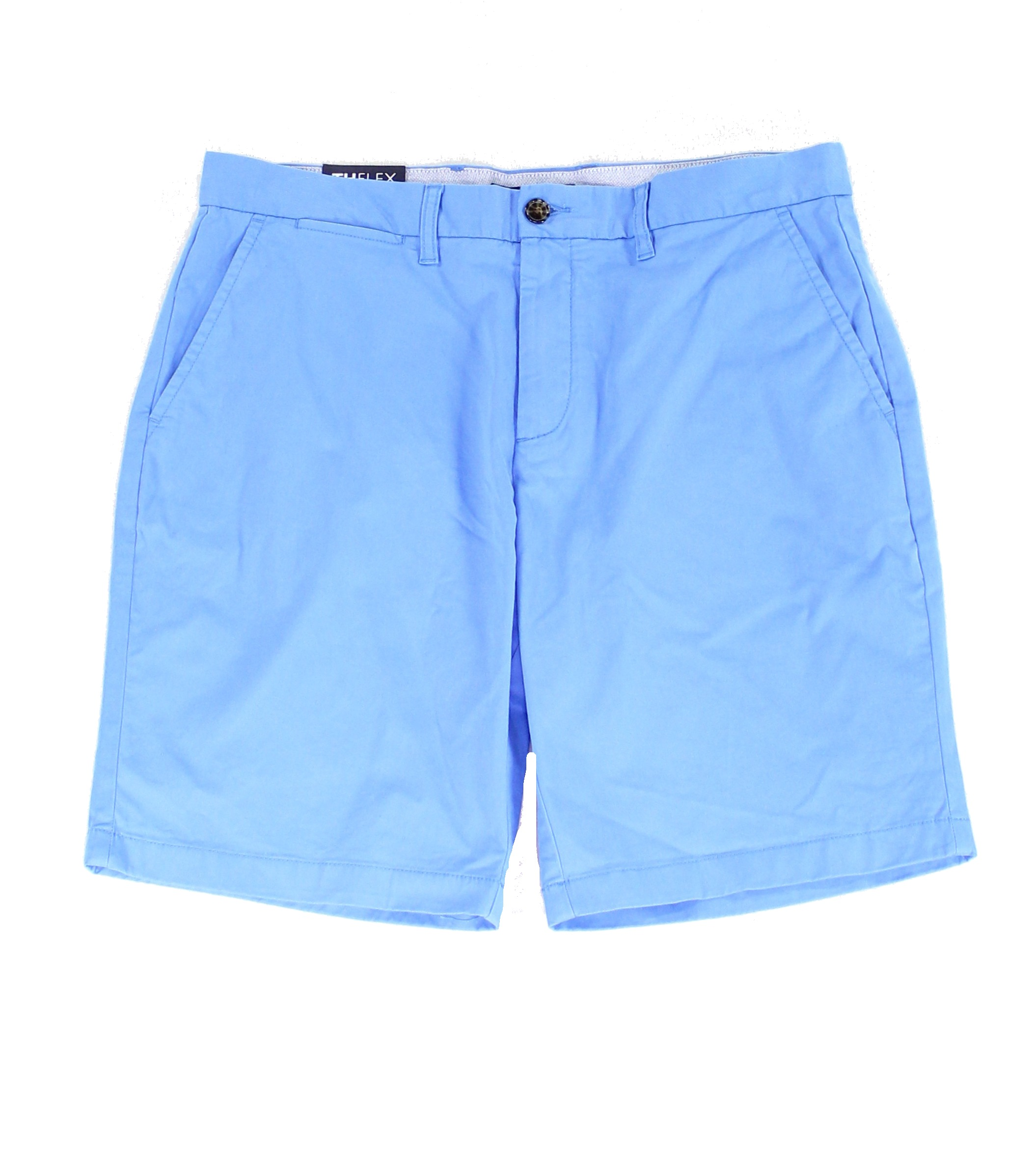 New-Tommy-Hilfiger-Blue-Mens-Size-32-Flat-Front-Khakis-Chinos-Shorts-49-332