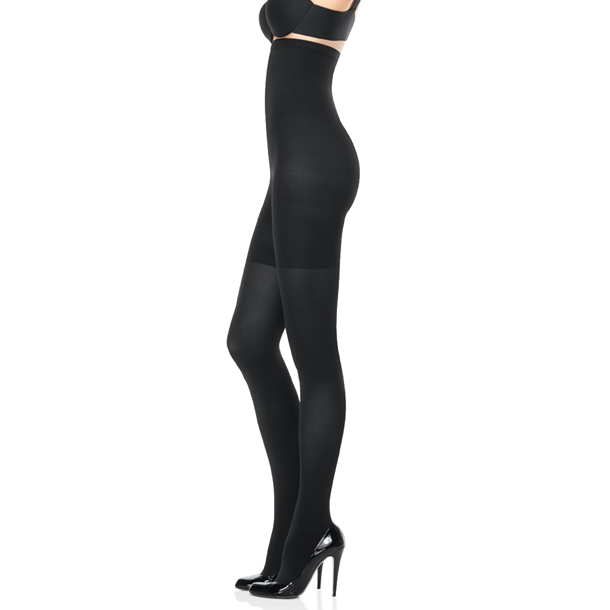 Spanx Black Opaque Women/'s Tight End All Day Bodyshaping Slimming Sleek Tights