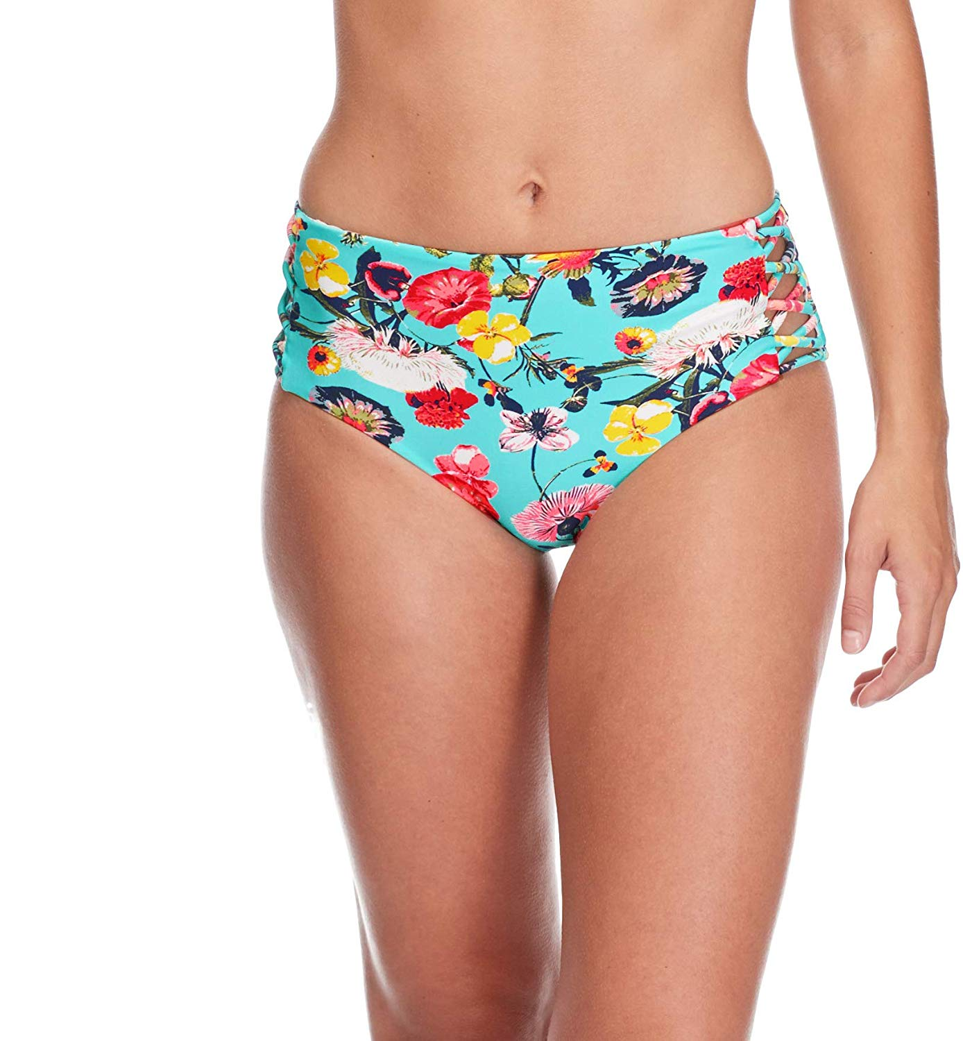 92727aea1b5 Details about Body Glove Women's Swimwear Blue Size XL Bikini Bottom Floral  High-Waisted #578