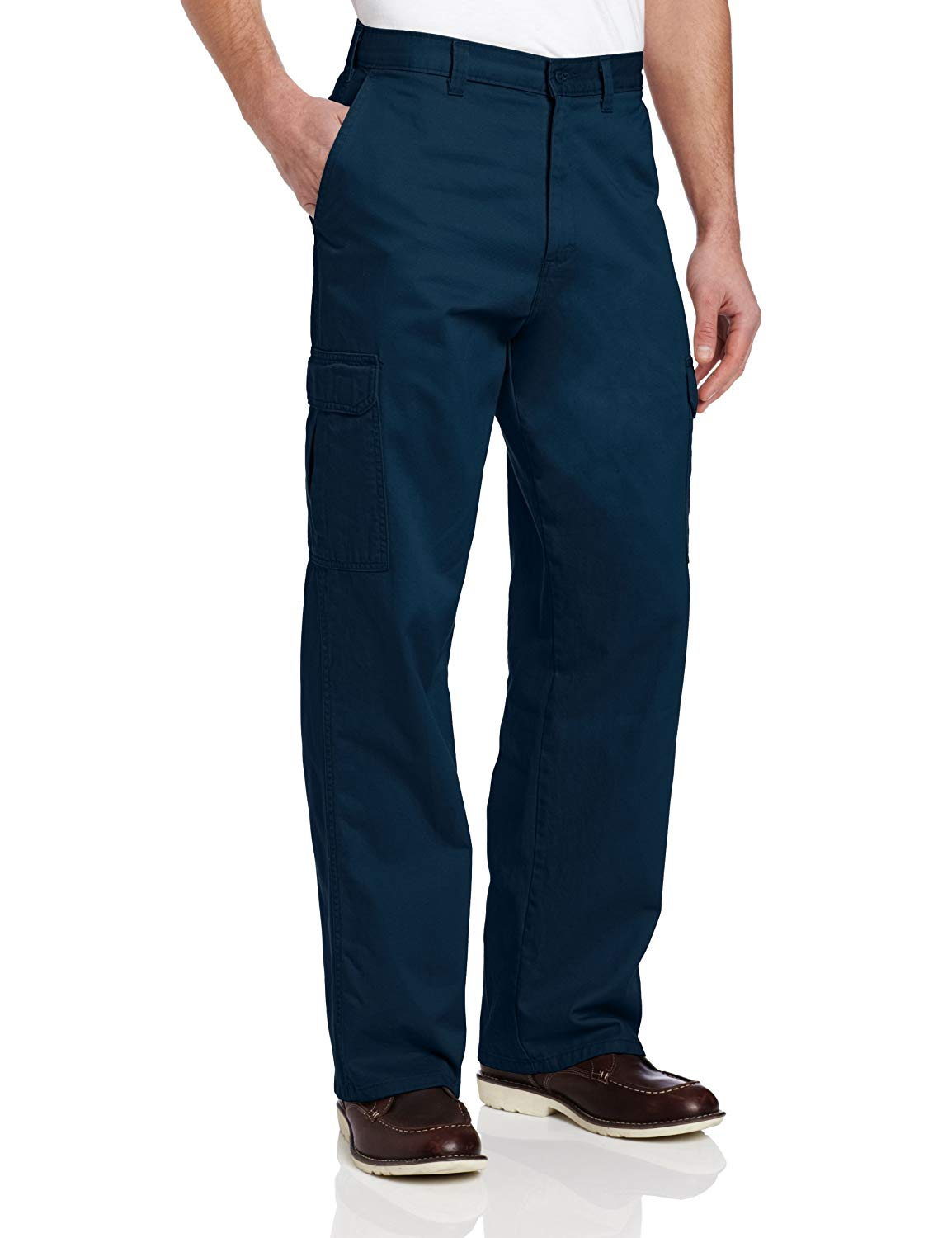 Dickies-Mens-Pants-Navy-Blue-Size-40X32-Loose-Fit-Cargo-Straight