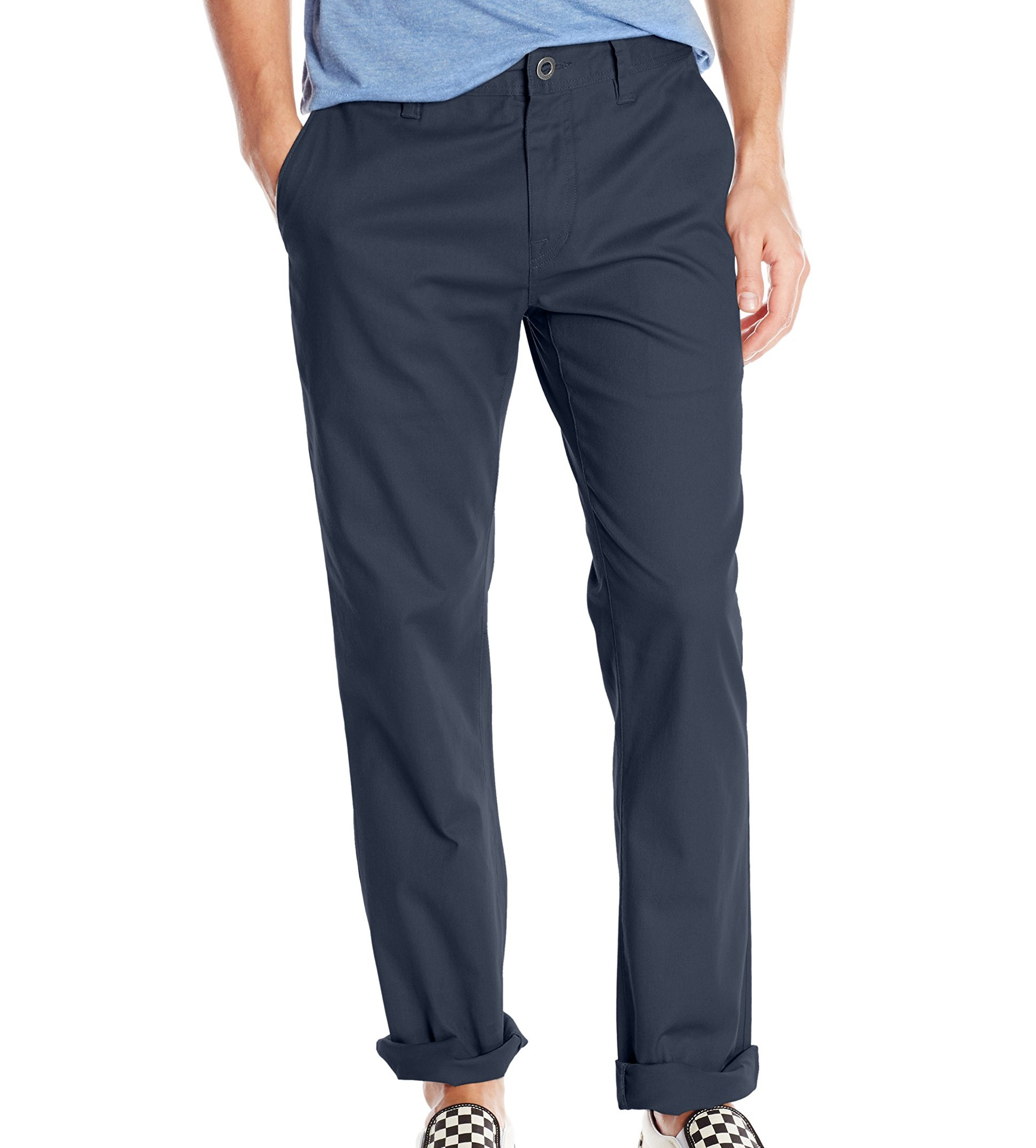 Volcom-Mens-Pants-Blue-Size-32X30-Modern-Fit-Zip-Fly-Chinos-Stretch