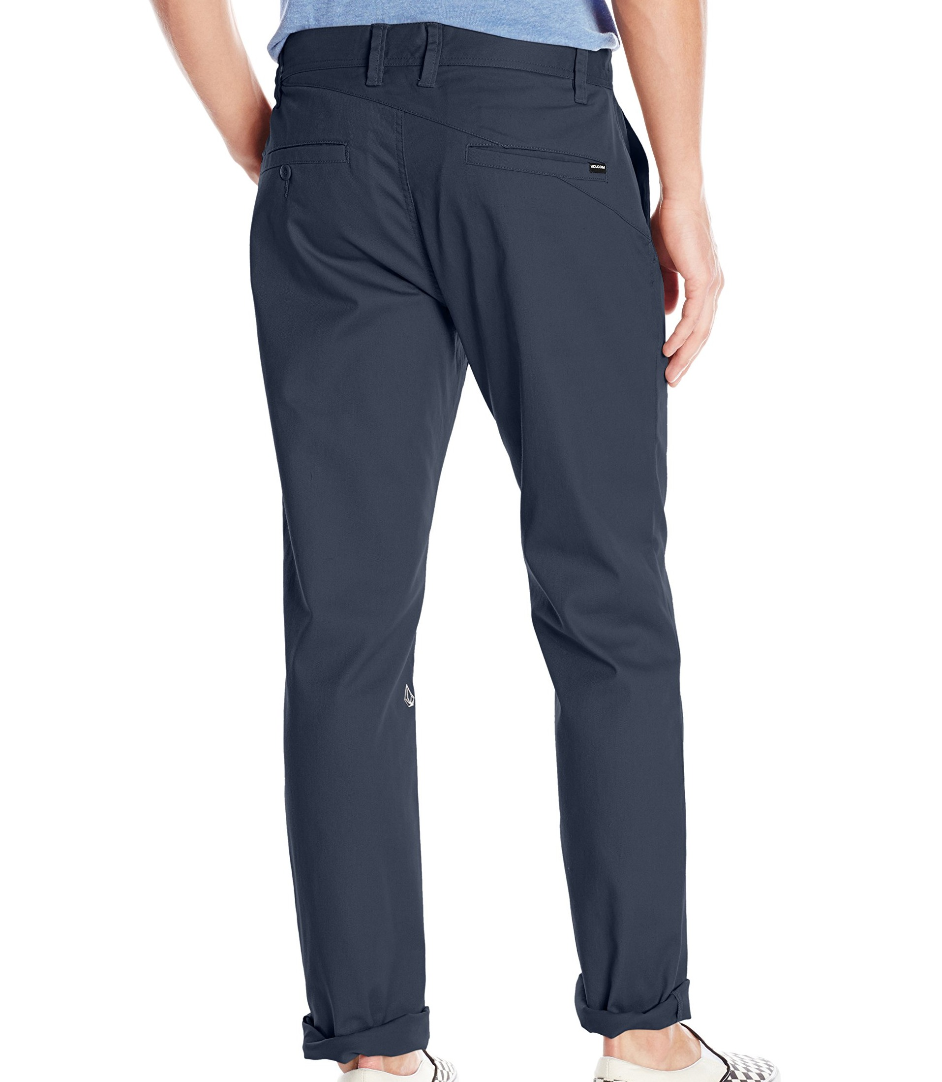 Volcom-Mens-Pants-Blue-Size-32X30-Modern-Fit-Zip-Fly-Chinos-Stretch thumbnail 2