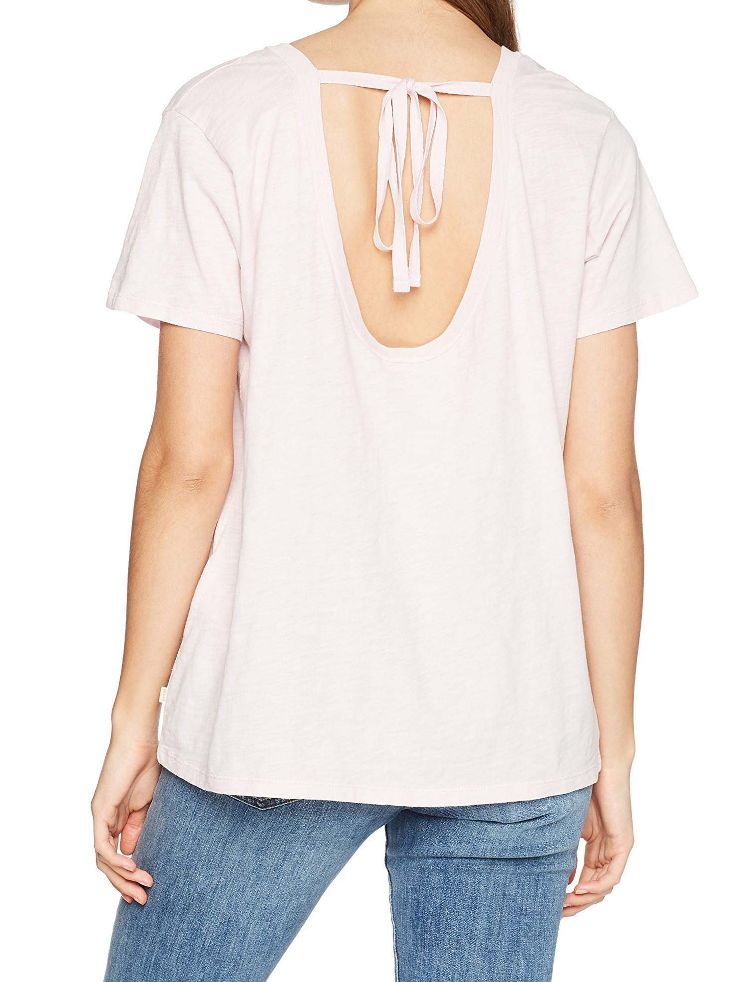 Levi-039-s-Women-039-s-Top-Blouse-Pink-Size-Small-S-Knit-Tee-Tie-Back-T-Shirt-346 thumbnail 2