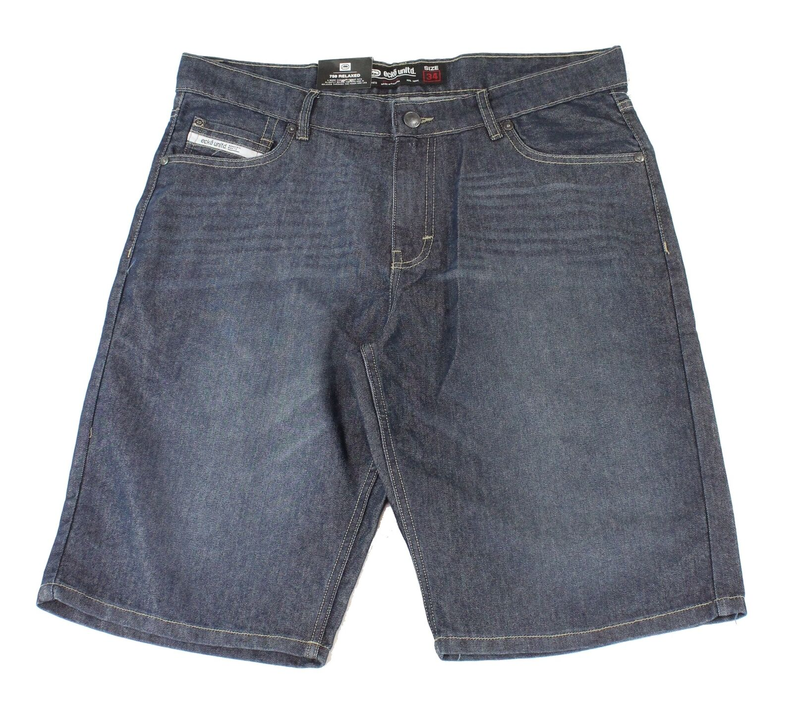 Ecko-Unltd-Mens-Shorts-Indigo-Blue-Size-36-Denim-759-Relaxed-Fit-48-106