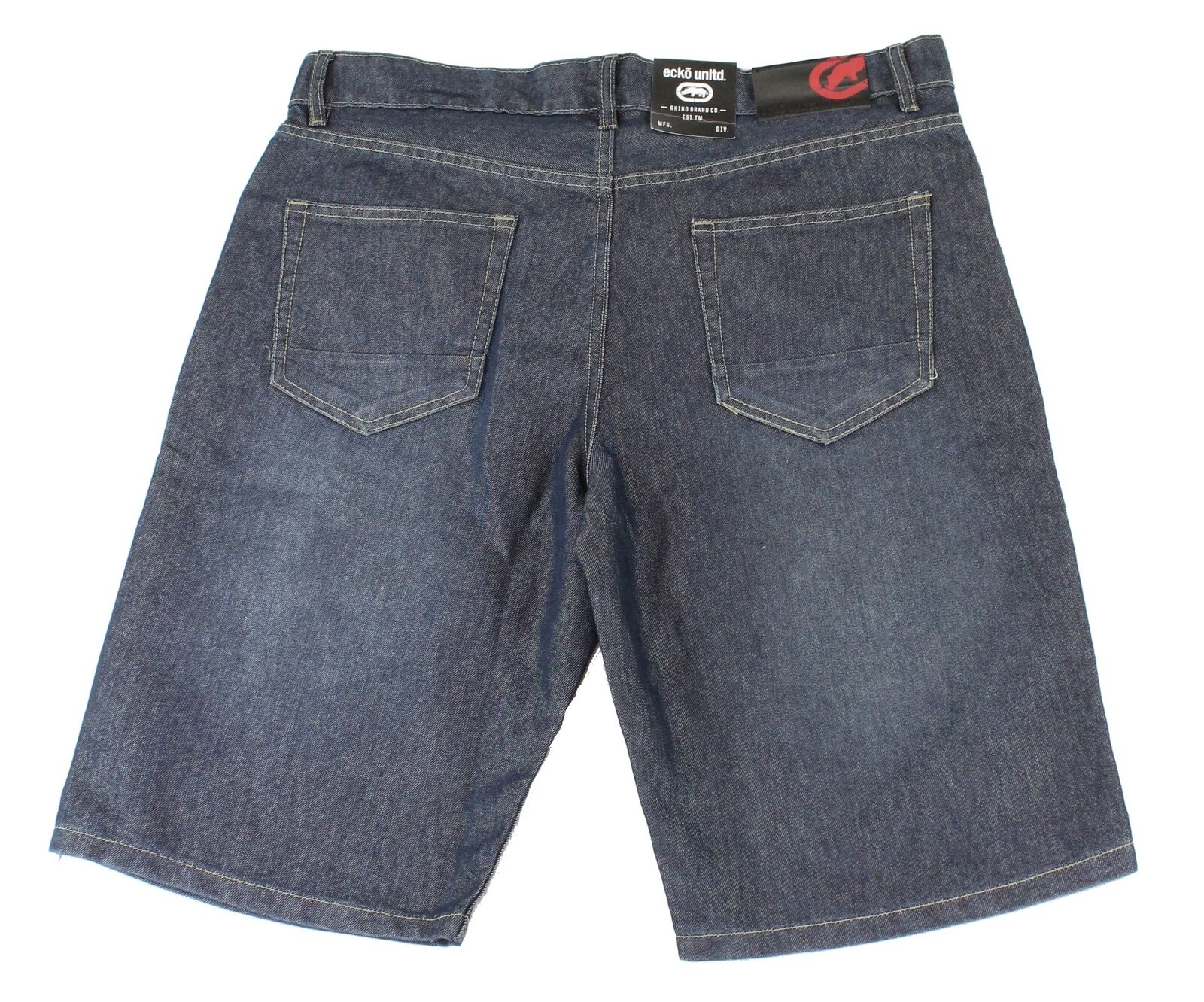 Ecko-Unltd-Mens-Shorts-Indigo-Blue-Size-36-Denim-759-Relaxed-Fit-48-106 thumbnail 2