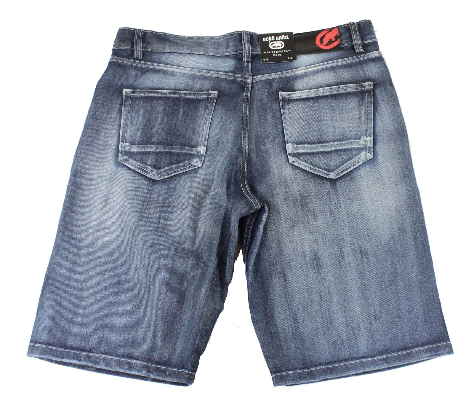 New-Ecko-Unltd-Mens-Shorts-Blue-Size-38-Denim-759-Relaxed-Fit-Washed-48-193 thumbnail 2