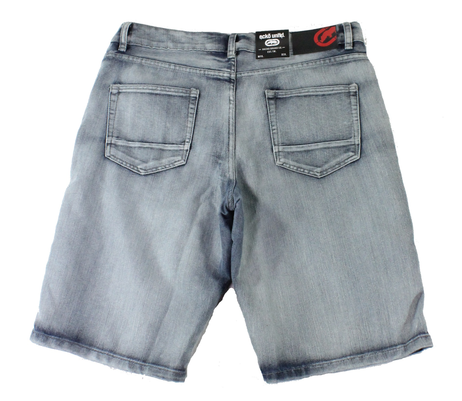 New-Ecko-Unltd-Mens-Shorts-Washed-Blue-Size-34-Denim-759-Relaxed-Fit-48-209 thumbnail 2