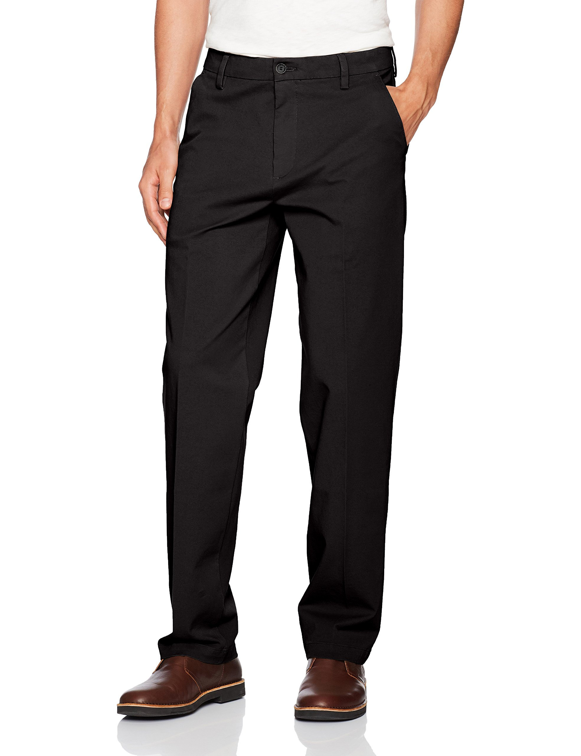 Dockers-Mens-Pants-Black-Size-42X30-Classic-Fit-Khakis-Chinos-Stretch