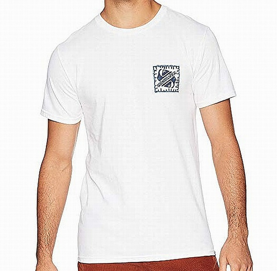 New-Quiksilver-Mens-T-Shirt-White-Size-XL-Saved-by-the-Swell-Tee-Crewneck-197