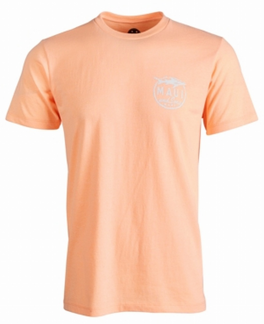 New-Maui-and-Sons-Mens-T-Shirt-Orange-Size-Medium-M-Aggro-Logo-Tee-Crewneck-244