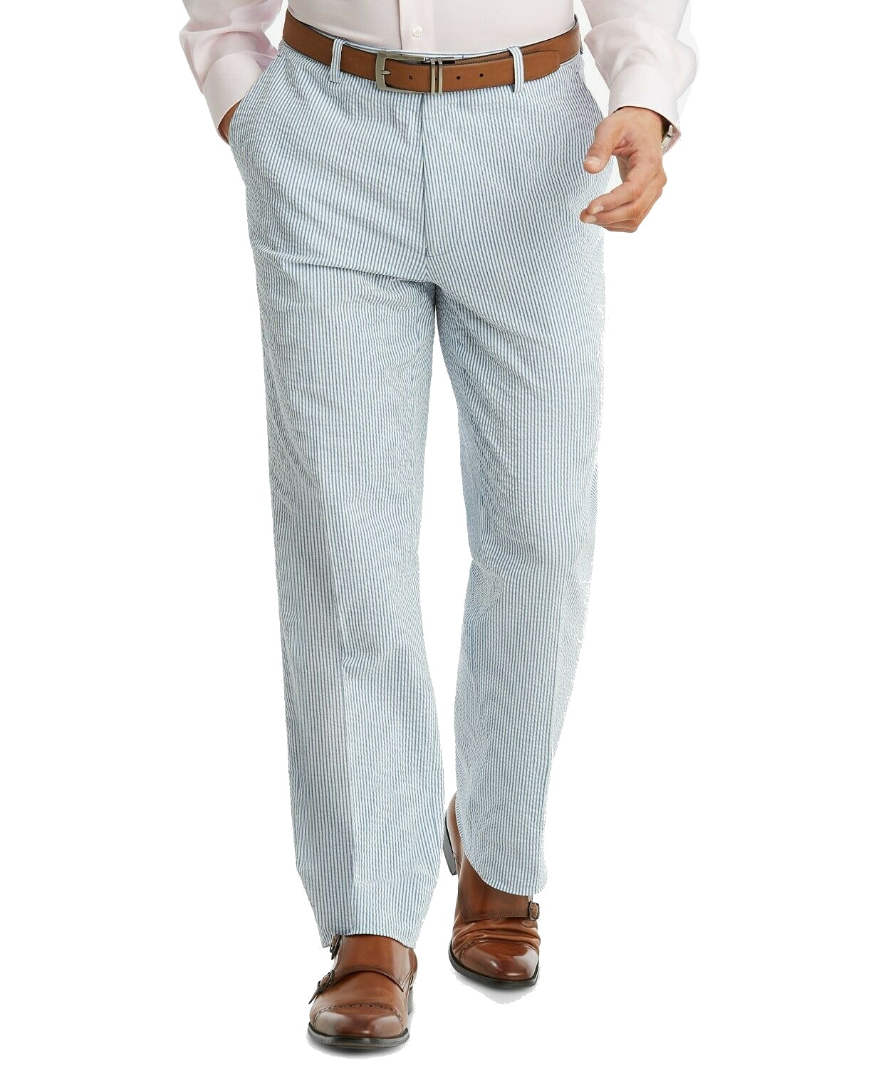 Tommy-Hilfiger-NEW-White-Blue-Mens-Size-36X34-Stripe-Tailored-Pants
