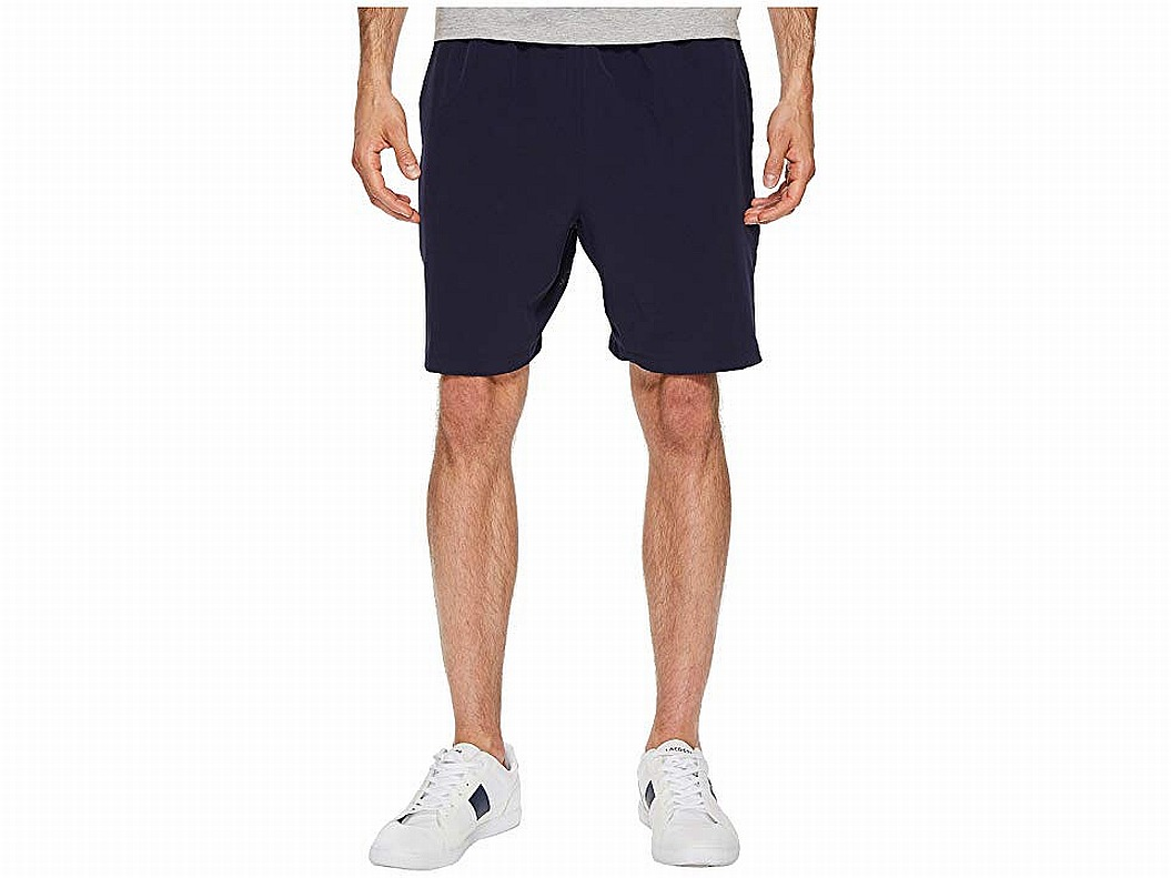 New-Lacoste-Mens-Shorts-Solid-Black-Size-2XL-Drawstring-Sport-Athletic-75-148
