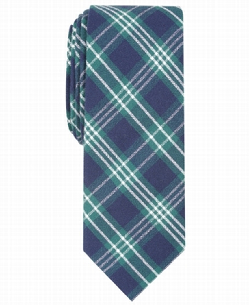 Nautica Mens Piirissaar Plaid Neck Tie Red