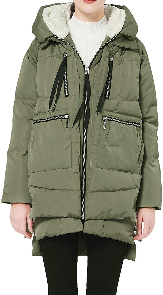 Orolay Women's Coat Green Size XXS Quilted Thickened Down Ho